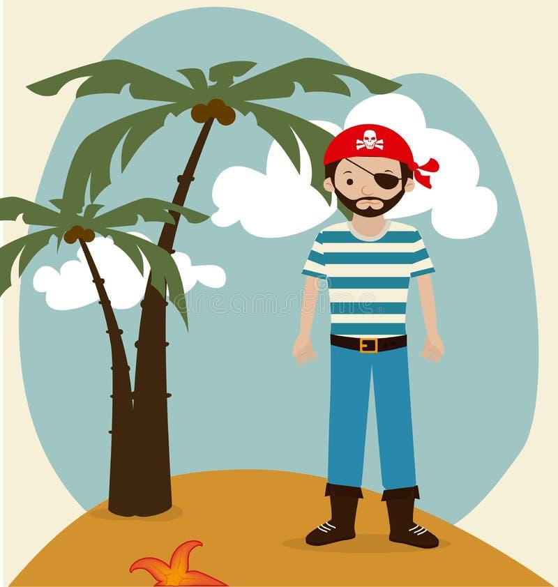 Conception de pirate illustration stock