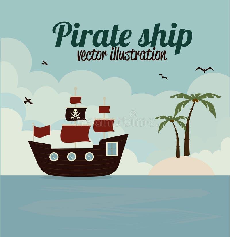 Conception de pirate illustration libre de droits