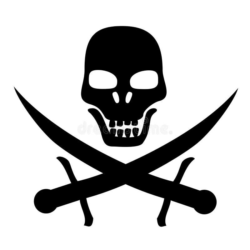 Conception de pirate illustration de vecteur