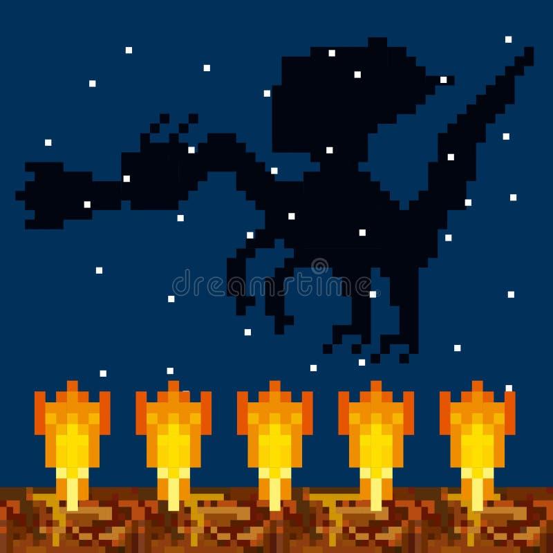 Conception de pixel de jeu vidéo illustration stock