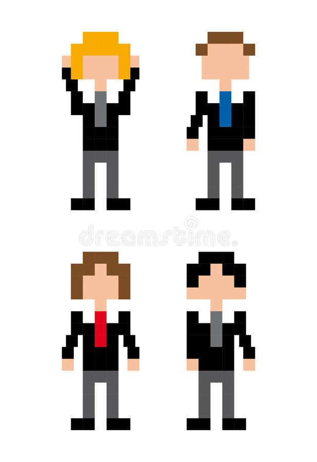 Conception de pixel de personnes d'homme d'affaires illustration libre de droits
