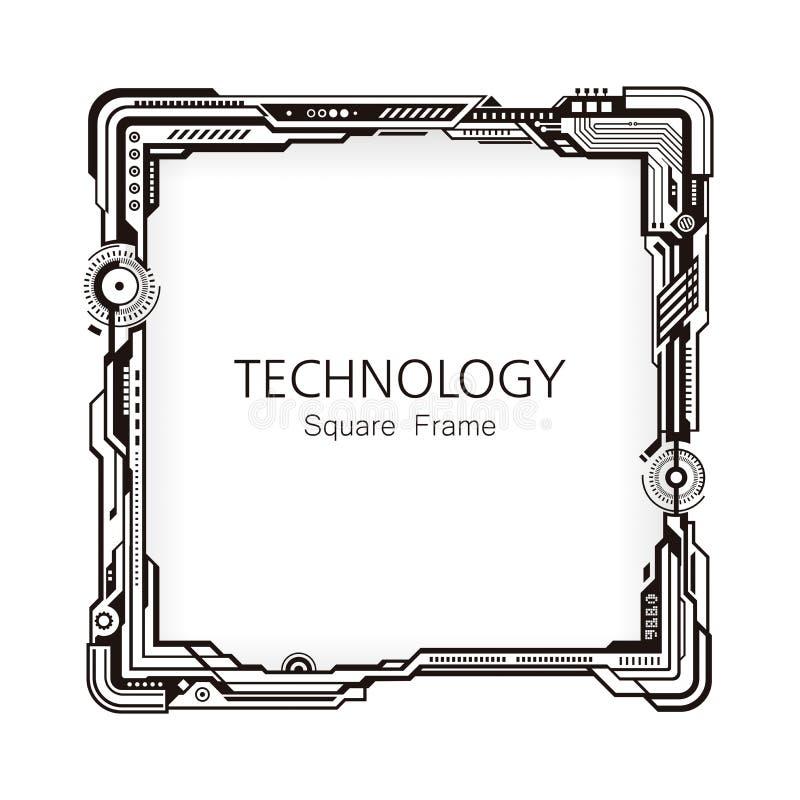 Conception de place de cadre de technologie illustration stock