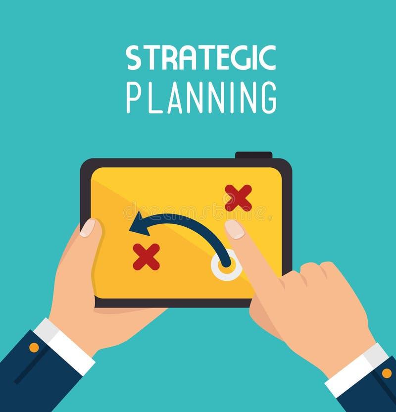 Conception de planification stratégique stratégique illustration stock