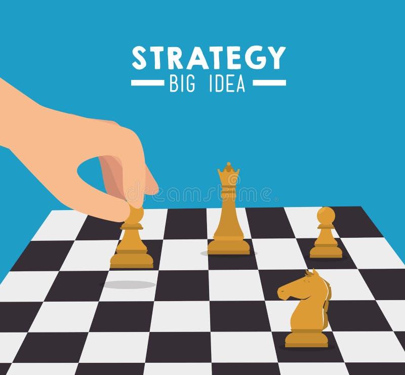 Conception de planification stratégique stratégique illustration de vecteur