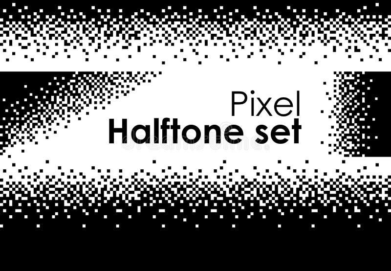 Conception de pointe d'ordinateur à 8 bits futuriste réglé d'image tramée illustration stock