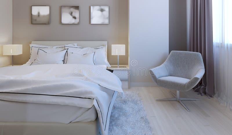 Conception de pointe de chambre à coucher image stock