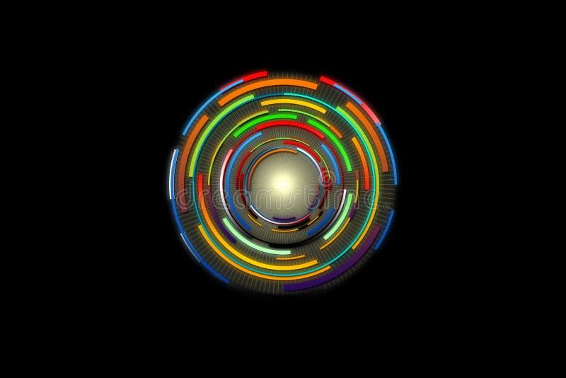 Conception de pointe de fond Fond abstrait de technologie illustration de vecteur