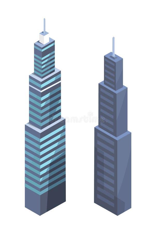 Conception de pointe de gratte-ciel, Real Estate moderne illustration libre de droits