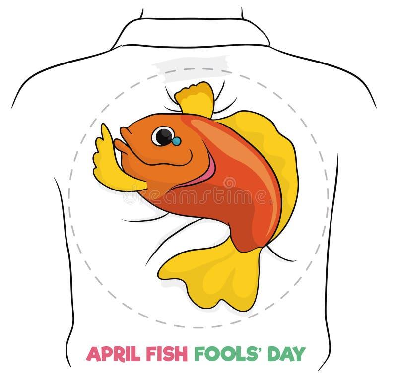 Conception de poissons de bande dessinée jour pour April Fools ', illustration de vecteur illustration stock