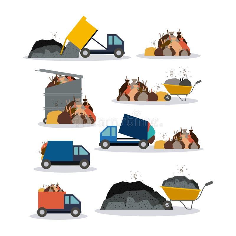 Conception de pollution, illustration de vecteur illustration de vecteur