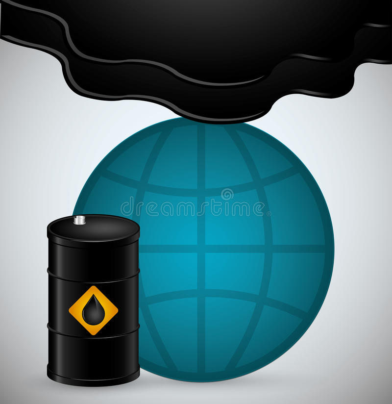 Conception de prix du pétrole illustration de vecteur