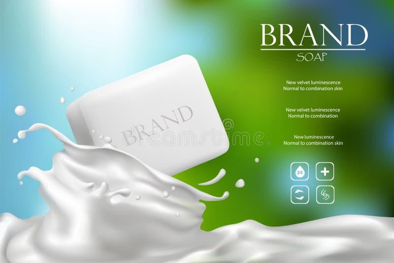 Conception de publicité de savon illustration de vecteur