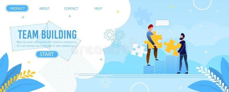 Conception de puzzle de Team Building Landing Page Jigsaw illustration stock