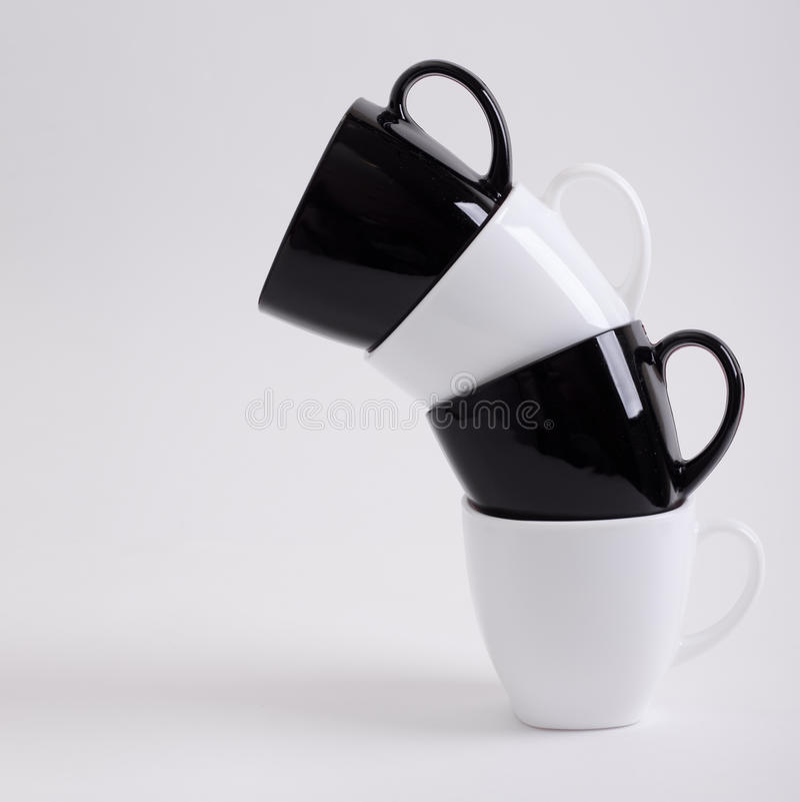 Conception de quatre tasses de café photos libres de droits