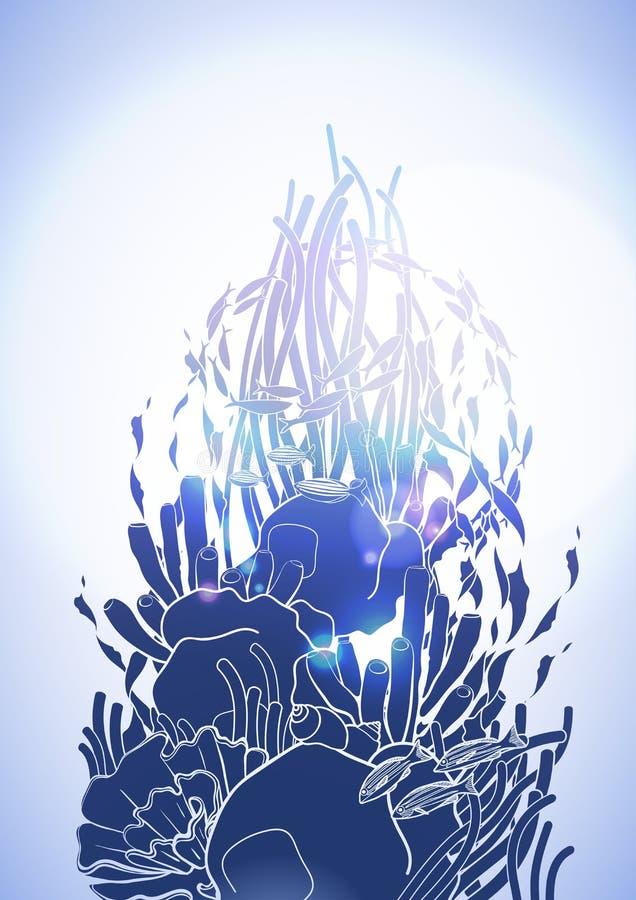 Conception de récif coralien illustration stock