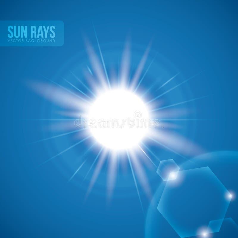 Conception de rayons de Sun illustration de vecteur