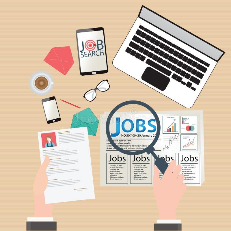 Conception de recherche d'un emploi illustration stock