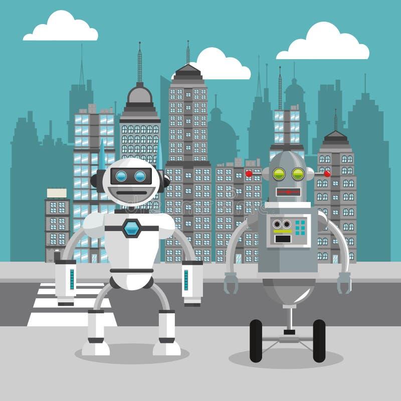 Conception de robot Concept de technologie Illustration colorée illustration de vecteur