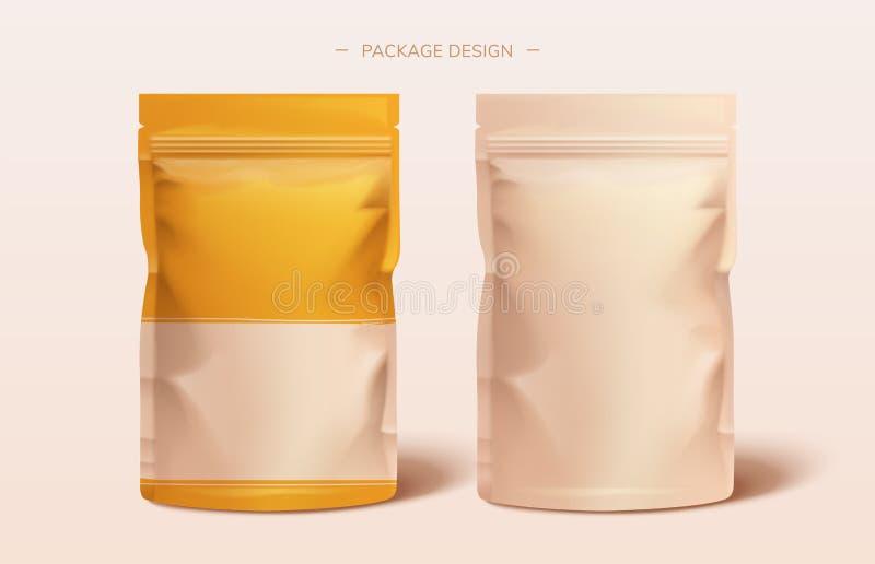 Conception de sac d'aluminium de paquet illustration libre de droits