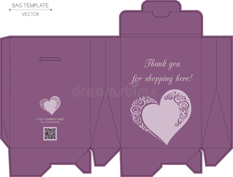 Conception de sac, matriçage illustration stock