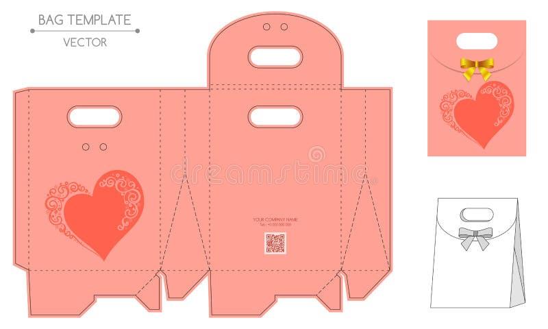Conception de sac, matriçage illustration libre de droits