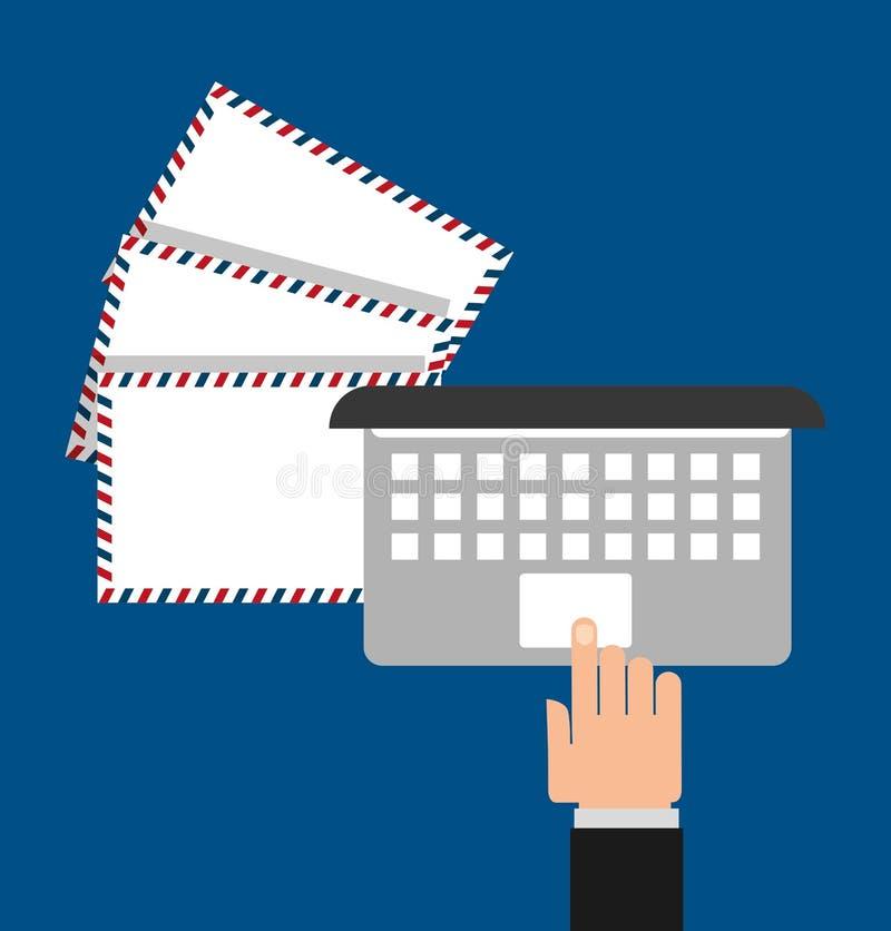 Conception de service de messagerie de courrier illustration libre de droits
