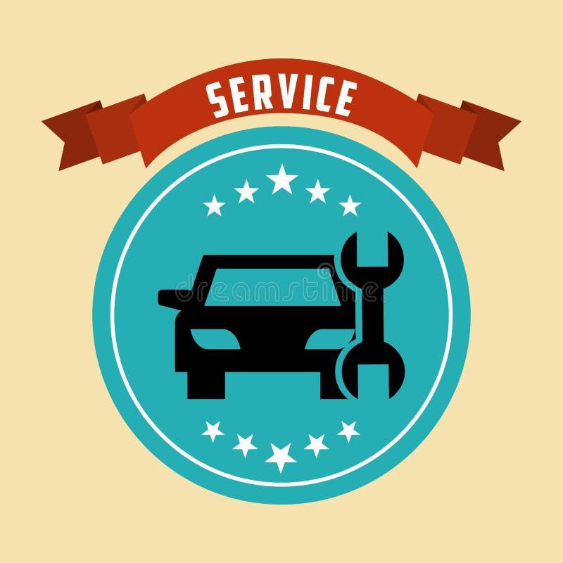 conception de service des réparations de voiture illustration de vecteur