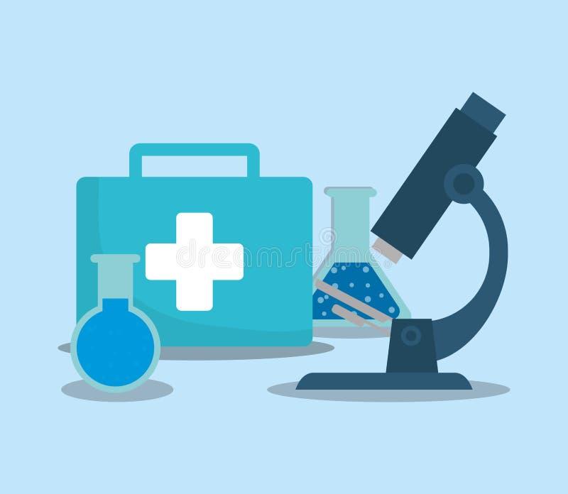 Conception de service médical illustration libre de droits