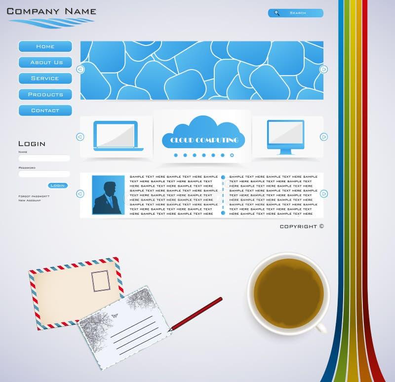 Conception de site Web illustration de vecteur
