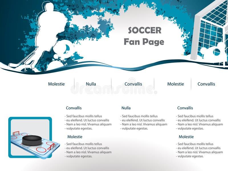 Conception de site Web d'hockey illustration libre de droits