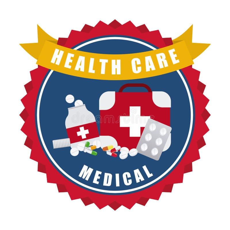 Conception de soins de santé illustration libre de droits