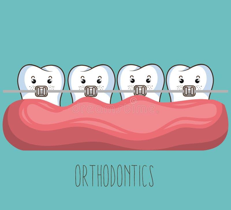 Conception de soins dentaires illustration stock