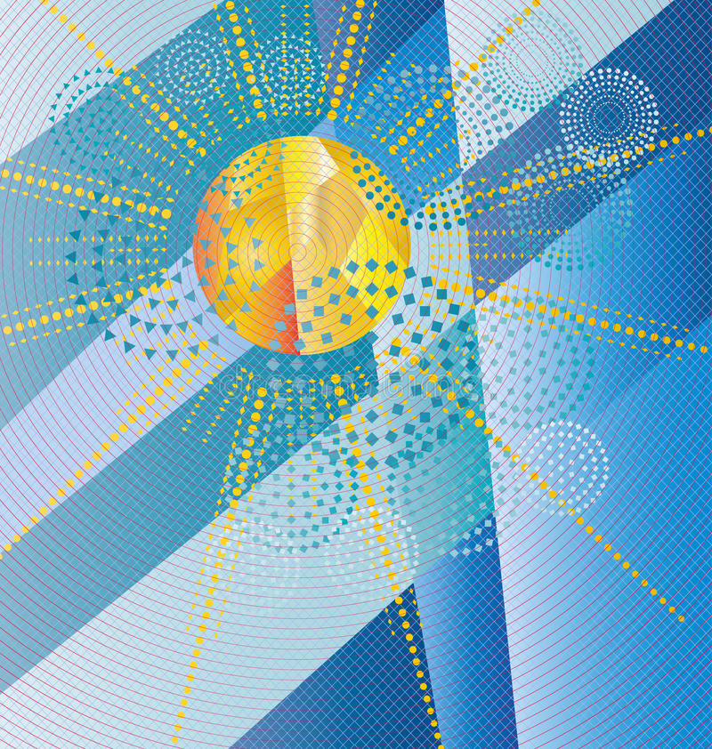 Conception de soleil illustration stock