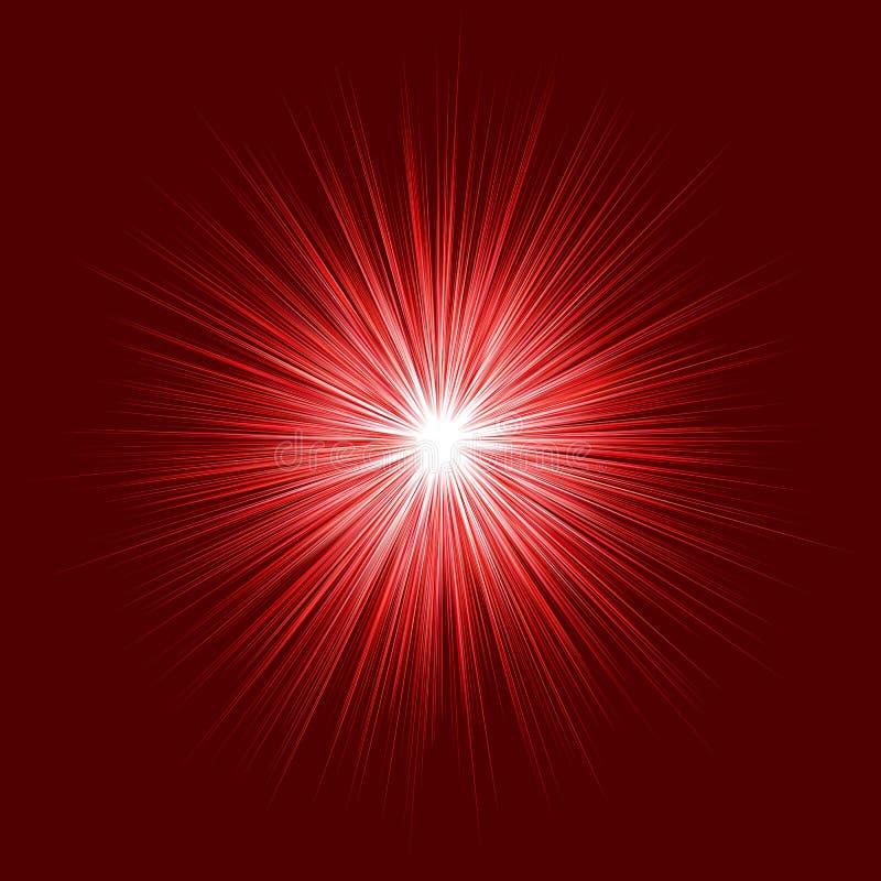 Conception de souffle rouge abstraite sur le fond foncé illustration libre de droits