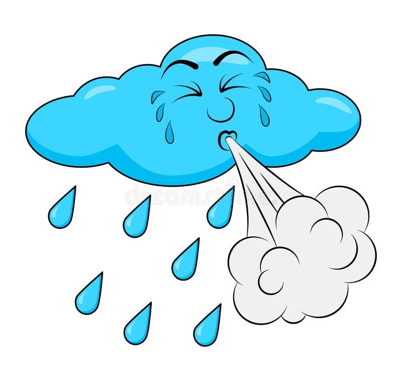 Conception de soufflement de bande dessinée de nuage d'isolement sur le fond blanc illustration libre de droits