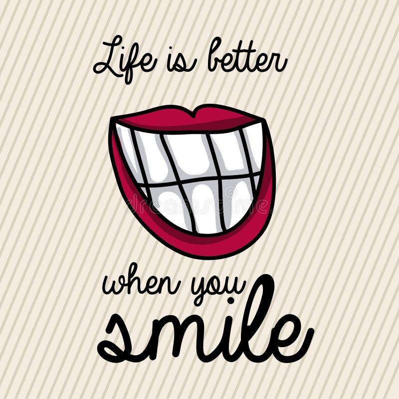 Conception de sourire illustration de vecteur