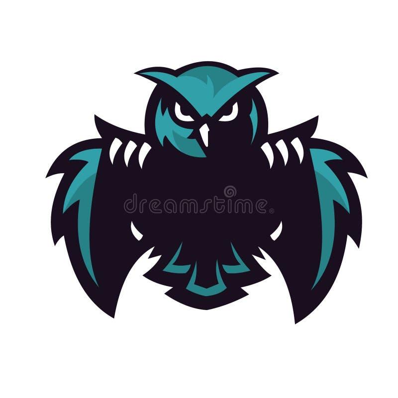 Conception de sport de logo de hibou illustration de vecteur