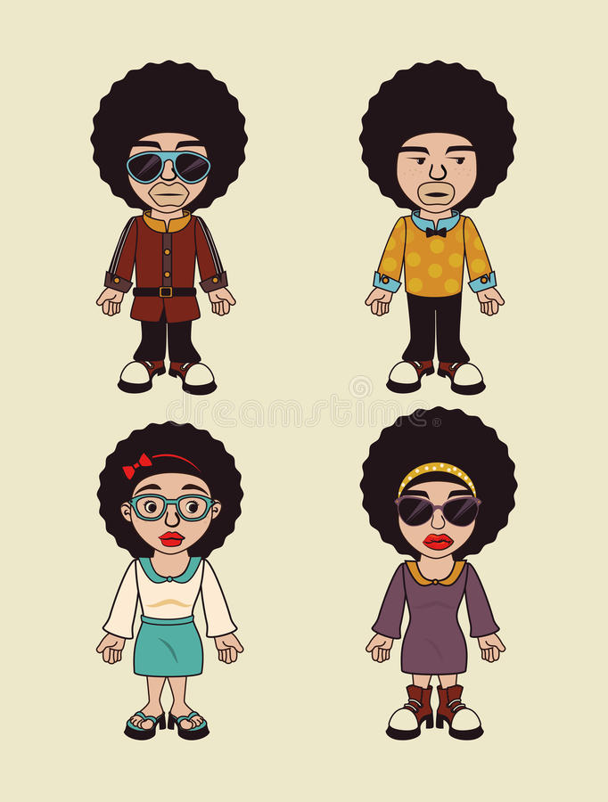 Conception de style d'Afro illustration libre de droits