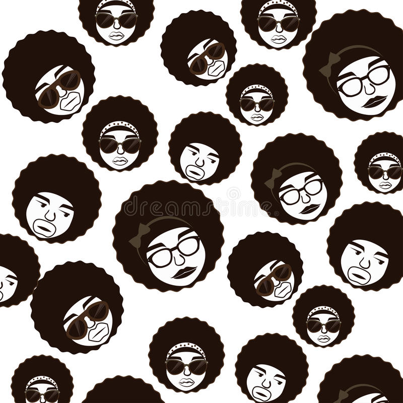 Conception de style d'Afro illustration stock