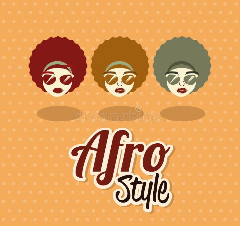 Conception de style d'Afro illustration de vecteur