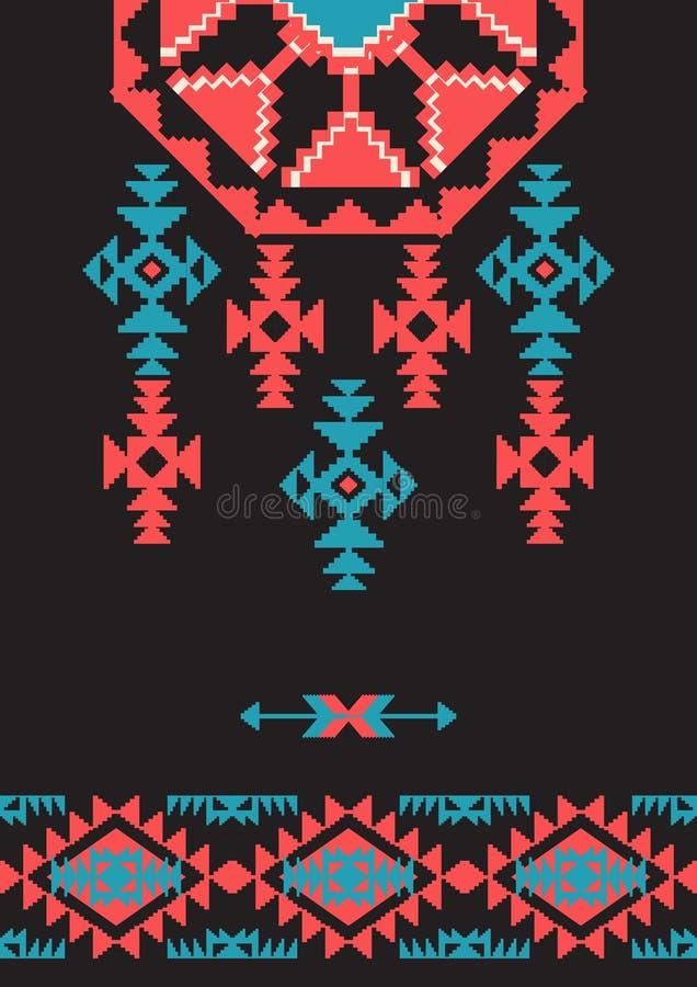 Conception de style de Navajo illustration de vecteur