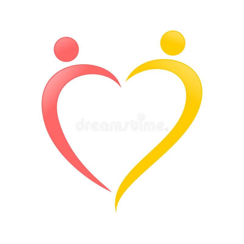 Conception de symbole de bruissement d'abrégé sur forme d'amour illustration de vecteur