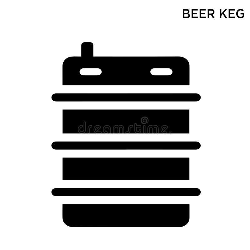 Conception de symbole de concept de restaurant de nourriture d'icône de barillet de bière illustration libre de droits