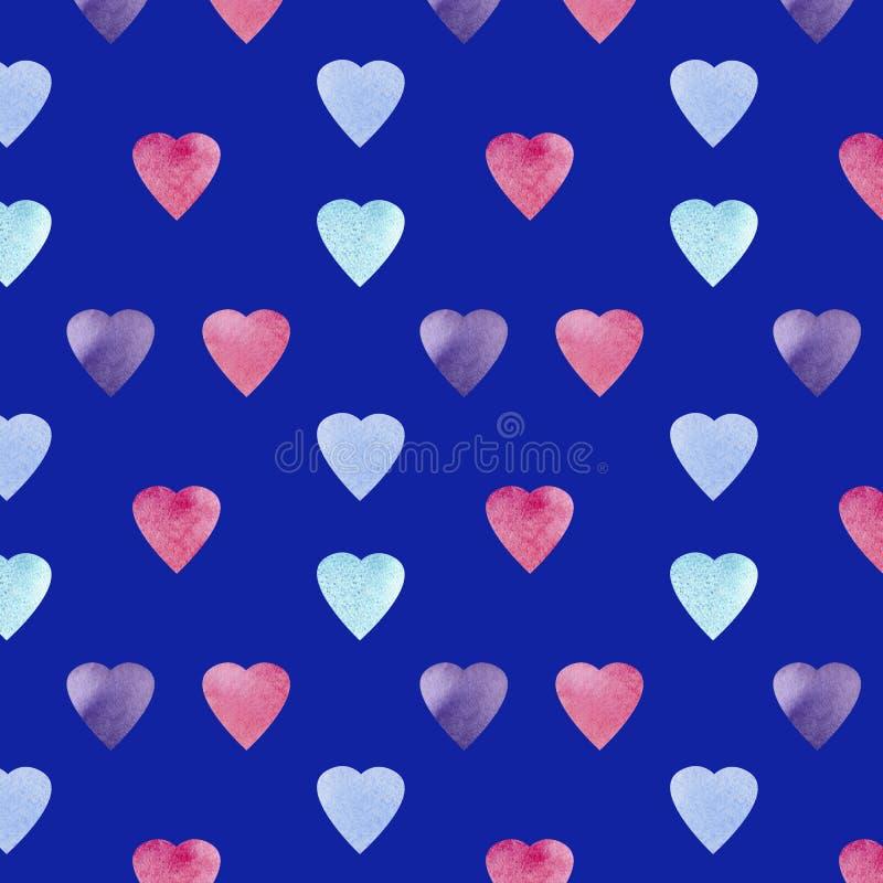 Conception de symbole de forme de coeur Mod?le de coeurs de Colorfui Fond sans couture de jour de valentines illustration de vecteur