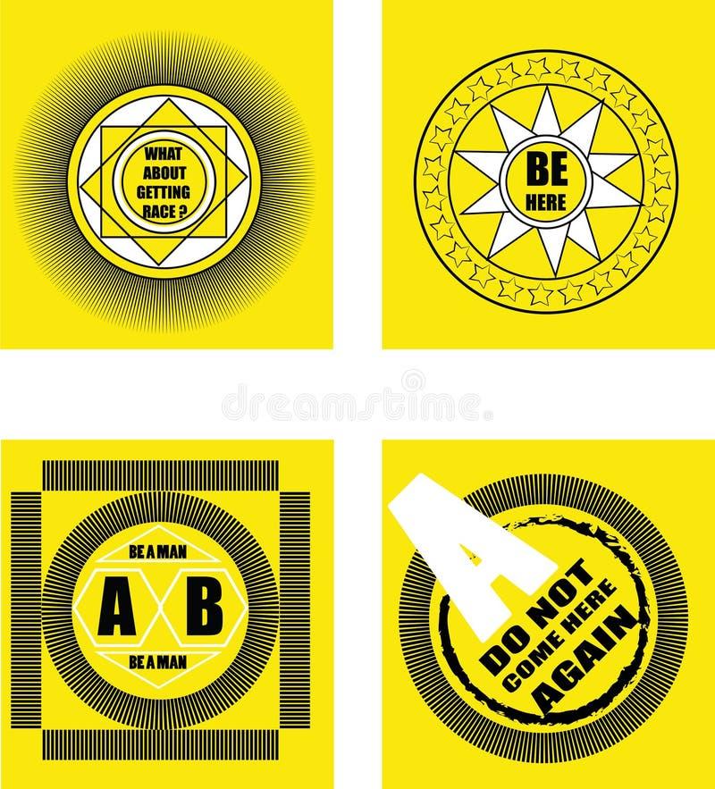 Conception de T-shirt Conception d'insigne photo libre de droits