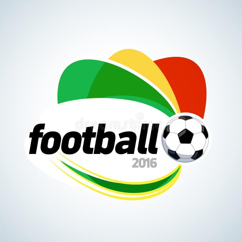 Conception 2016 de T-shirt d'habillement du football Calibre de conception graphique de bannière du football Illustration d'isole illustration de vecteur