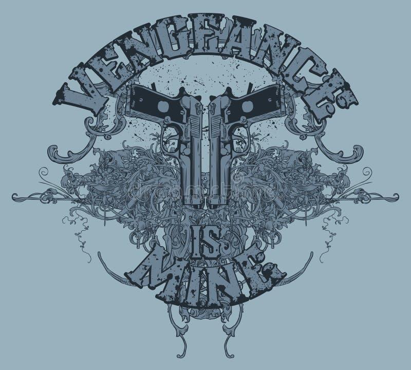 Conception de T-shirt de canons illustration de vecteur