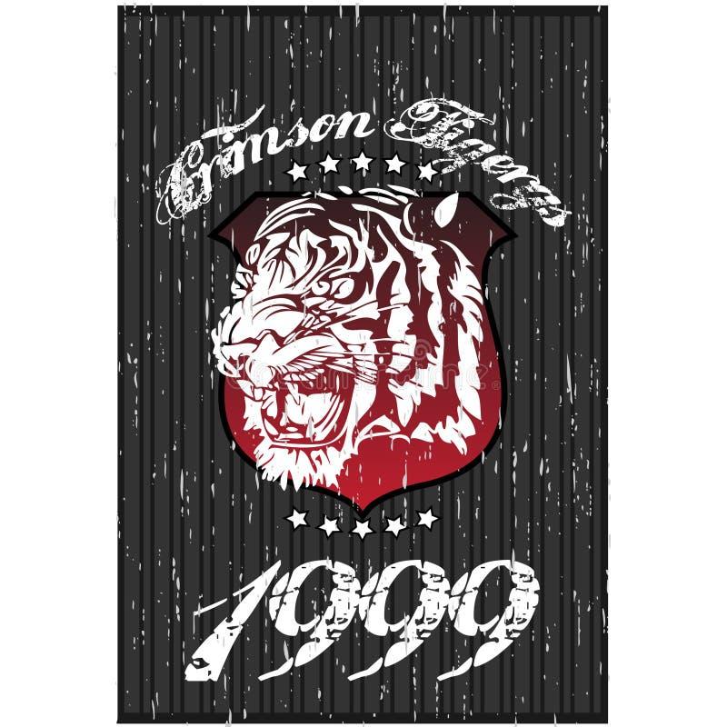 Conception de T-shirt de tigre illustration stock