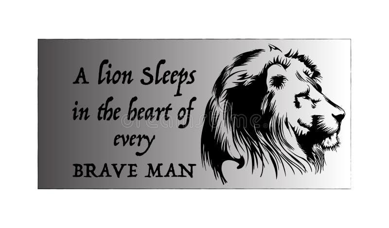 Conception de T-shirt de lion illustration de vecteur