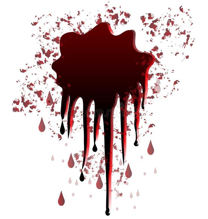 Conception de tache de sang illustration de vecteur